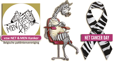 Zebra is mascotte voor neuro-endocriene tumor