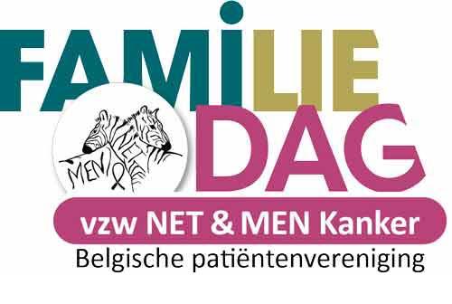 Het logobeeld Familiedag, dat staat voor een familiale activiteit onder lotgenoten en naasten die lid zijn van vzw NET & MEN Kanker