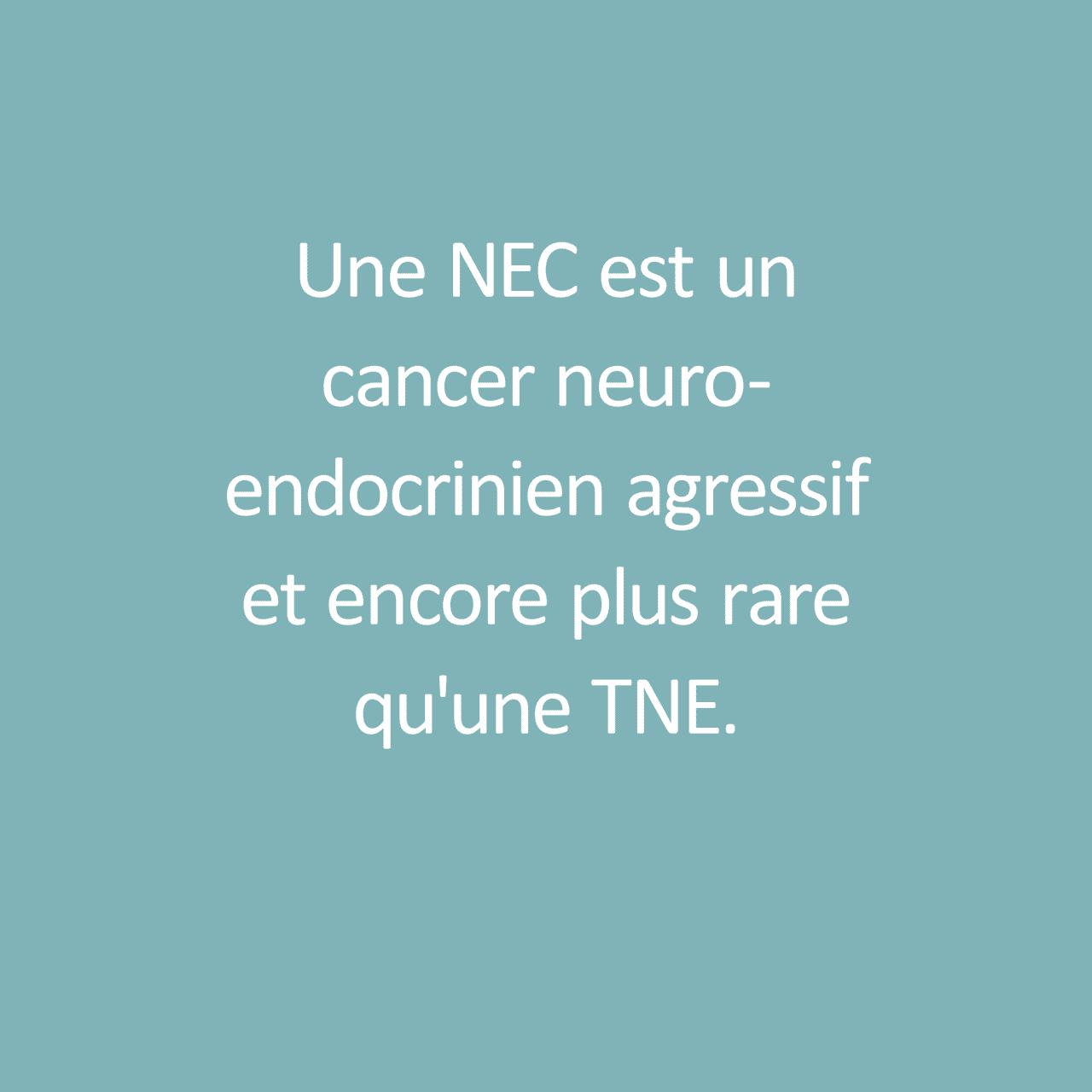 "Fact about Neuroendocrine Carcinoma / Fait sur Neuroendocrine Carcinome: ""Une NEC est un cancer neuroendocrinien agressif et encore plus rare qu'une TNE"""