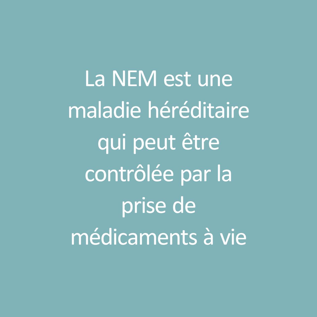 """Fact about Multiple Endocrine Neoplasm / Fait sur Néoplasies Endocrines Multiples: """"La NEM est une maladie héréditaire qui peut être contrôlée par la prise de médicaments à vie."""""""