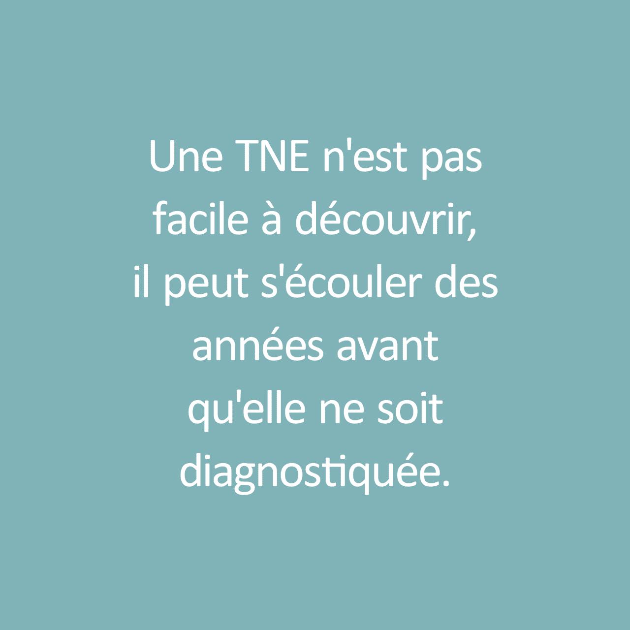 """Fact about Neuroendocrine Tumor / Fait sur Tumeur Neuroendocrine: """"Une TNE n'est pas facile à découvrir, il peut s'écouler des années avant qu'elle ne soit diagnostiquée."""""""